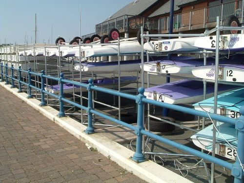 Sports and leisure equipment dinghy rack