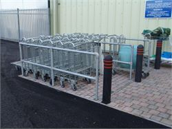 Divided trolley bay - Cycle Racks and Trolley Bays