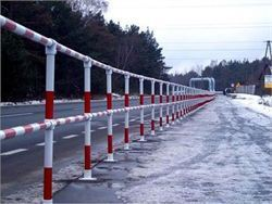 High visibility pedestrian safety barrier - Handrails
