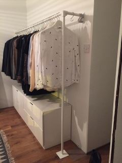 Powder Coated Clothes Rail - White