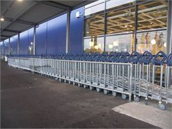 Retail outlet trolley bay - Cycle Racks and Trolley Bays