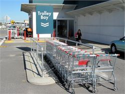 Supermarket trolley bay - Cycle Racks and Trolley Bays