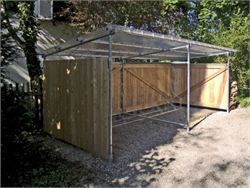 Covered bicycle shelter - Cycle Racks and Trolley Bays