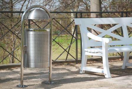 Traffic Line Stainless Steel Litter Bins - Style DS35