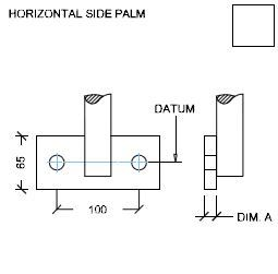 Handrail Standards Horizontal Side Palm dimensions