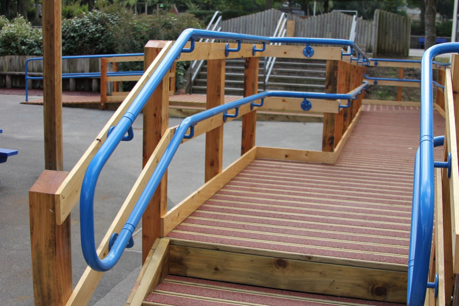 Disability Portable Handrails : Interclamp assist for disabled handrailing and ramp