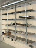 Industrial Studio with Interclamp Shelving & Desk